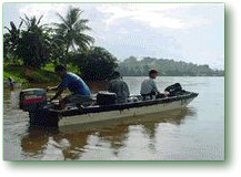 by boat transportation